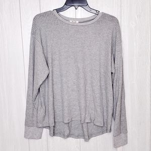 PST Project Social Heather Grey Long Sleeve Shirt
